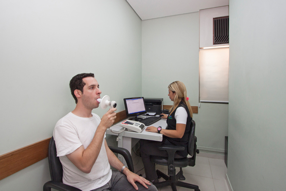 Exame de espirometria